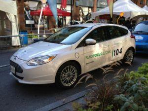Rallye Vert 2012 - La Ford Focus électrique #104 pilotée par Sylvain Juteau