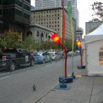 Site du Rallye Vert de Montréal 2012 à l'intersection de Sainte-Catherine et McGill
