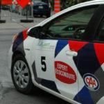 Rallye Vert 2012 - Départ de la Toyota Prius C de CAA Québec