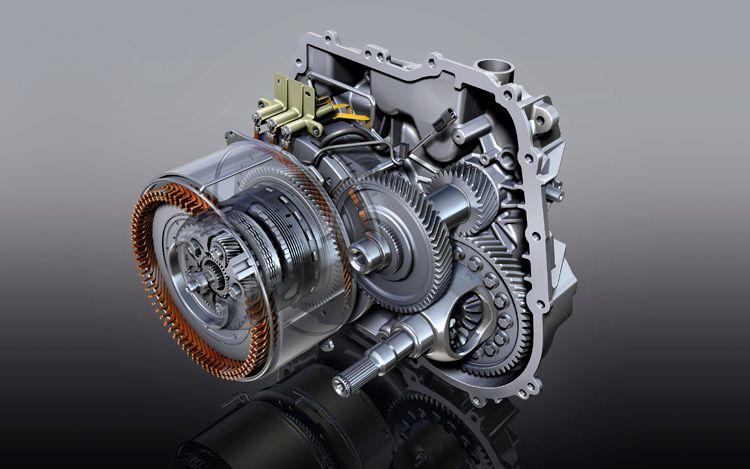 Vue en coupe d'une transmission de Volt