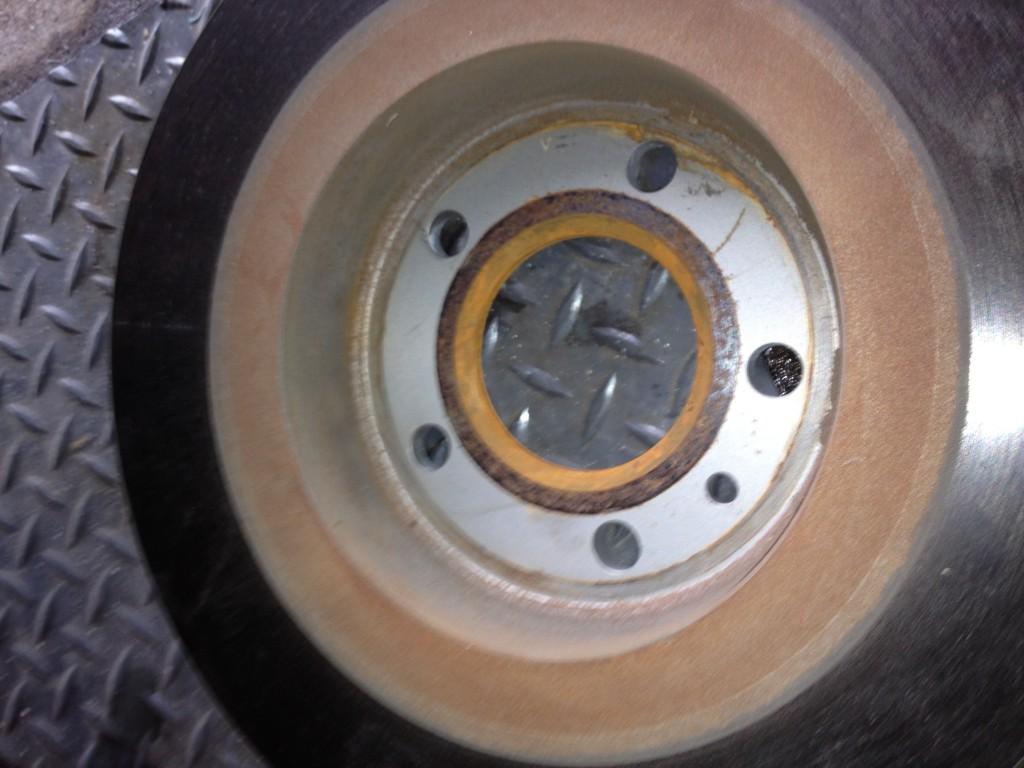 Corrosion derrière le disque