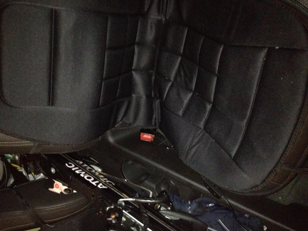 Coussin chauffant dans ma Volt sur le siège arrière