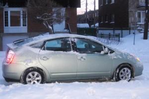 Toyota Prius en hiver