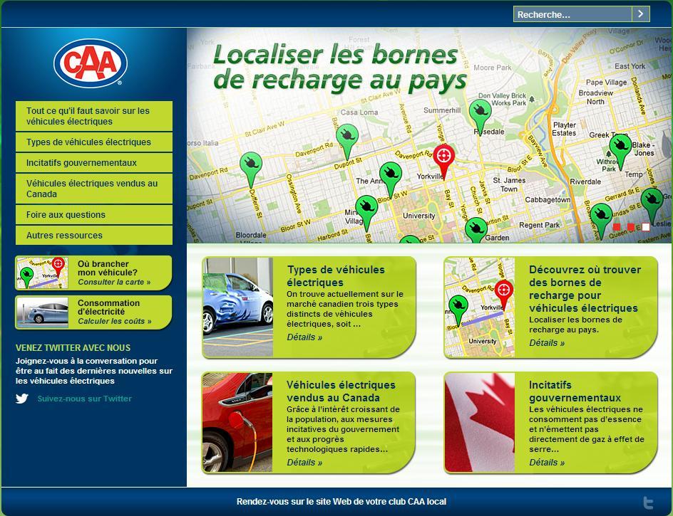 CAA - Québec lancement portail dédié aux véhicules électriques