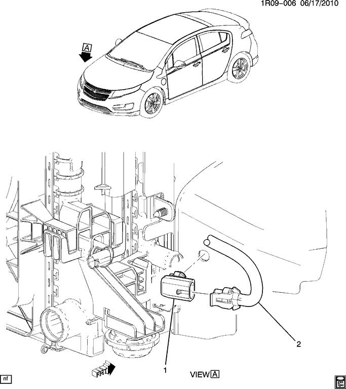 Recalibration du senseur de mesure de température extérieure de la Volt.
