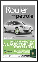 """Conférence gratuite """"Rouler sans pétrole"""" , le 28 février 2013, à Québec"""