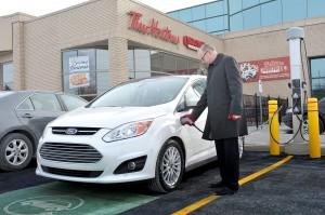 Tim Hortons - Projet pilote borne recharge voitures électriques