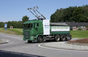 Siemens Scania camion a catenaire