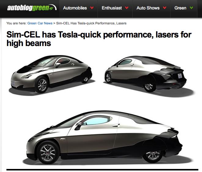 Autoblog Green - Sim-Cel voiture électrique à moteurs-roues