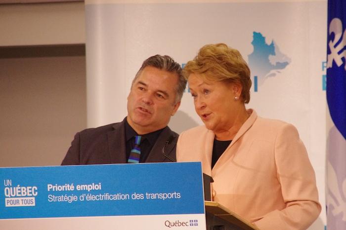 Ma question à Mme Marois lors du dévoilement de la stratégie d'électrification des transports!