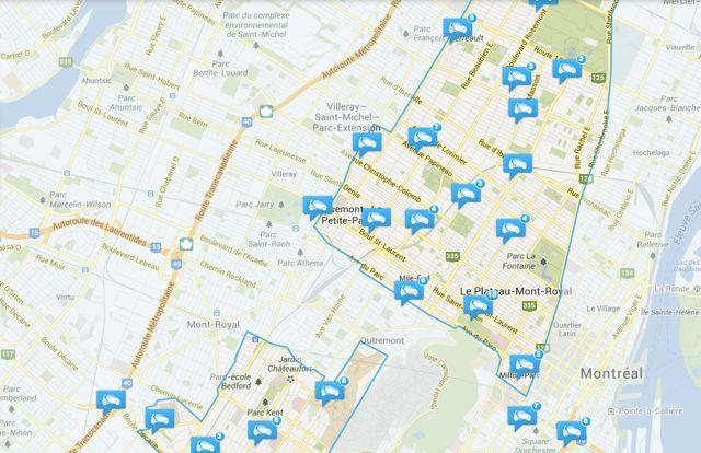 Il est facile de localiser les 250 véhicules de Car2Go via leur application mobile ou leur site internet.