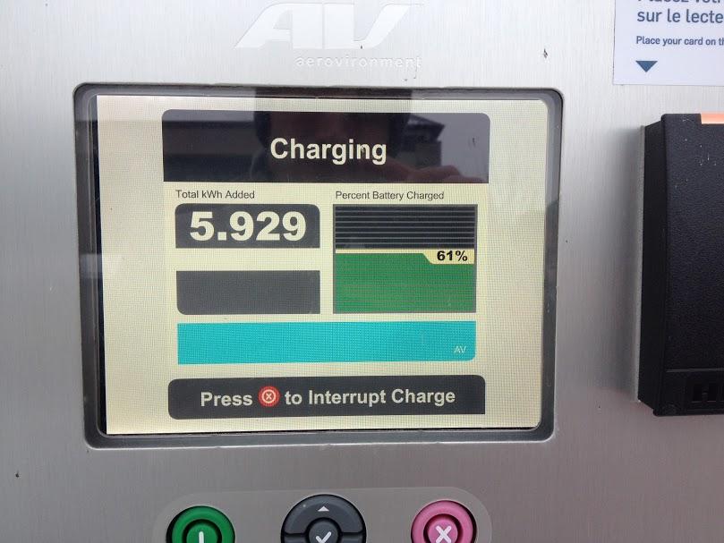 État de la recharge à 12 h 54
