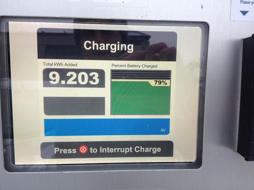 État de la recharge à 13 h22