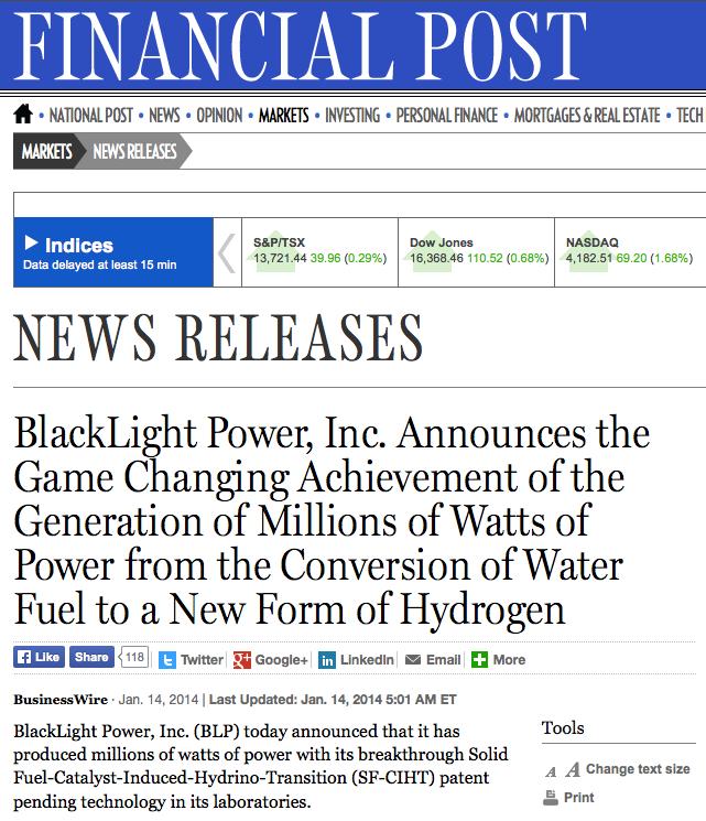 Une nouvelle source d'énergie révolutionnaire ?