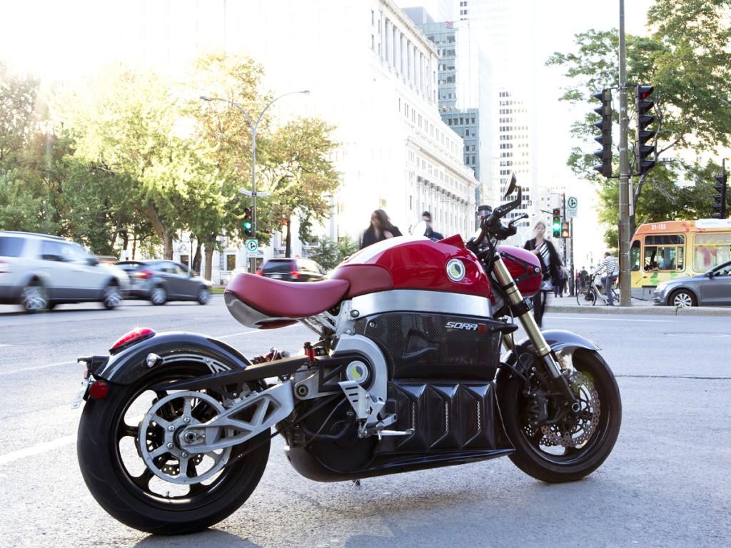 Début de la production de la moto électrique québécoise SORA