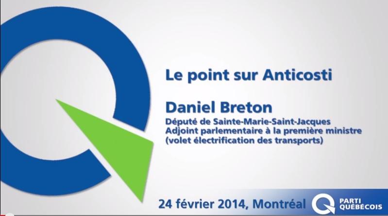 Daniel Breton appuie la décision du gouvernement du Québec d'aller de l'avant avec l'exploration pétrolière sur l'île d'Anticosti