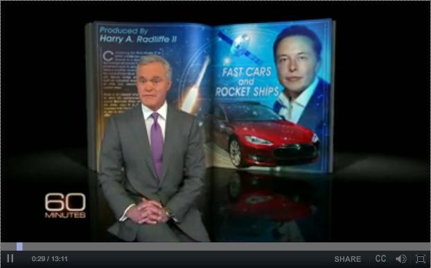 Reportage 60 Minutes sur Elon Musk, le fondateur et président de Tesla Motors !