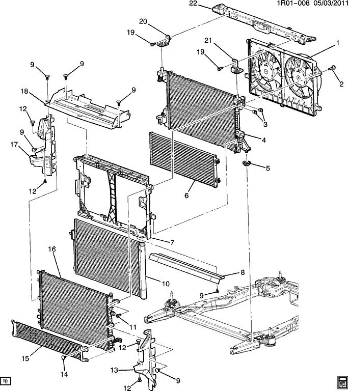 Protection du radiateur de la Volt 2011/2012