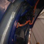 Vue à l'arrière du connecteur de recharge, avant branchement