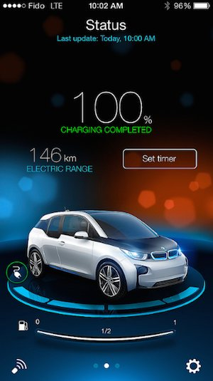 Application mobile de la BMW i3