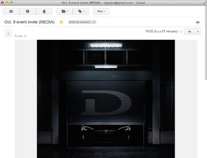 Événement «D» de Tesla le 9 octobre : Roulez Électrique sera SUR PLACE!