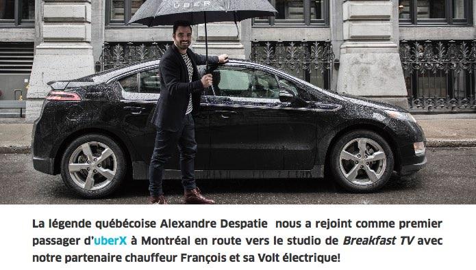 UberX : le covoiturage électrifiable!