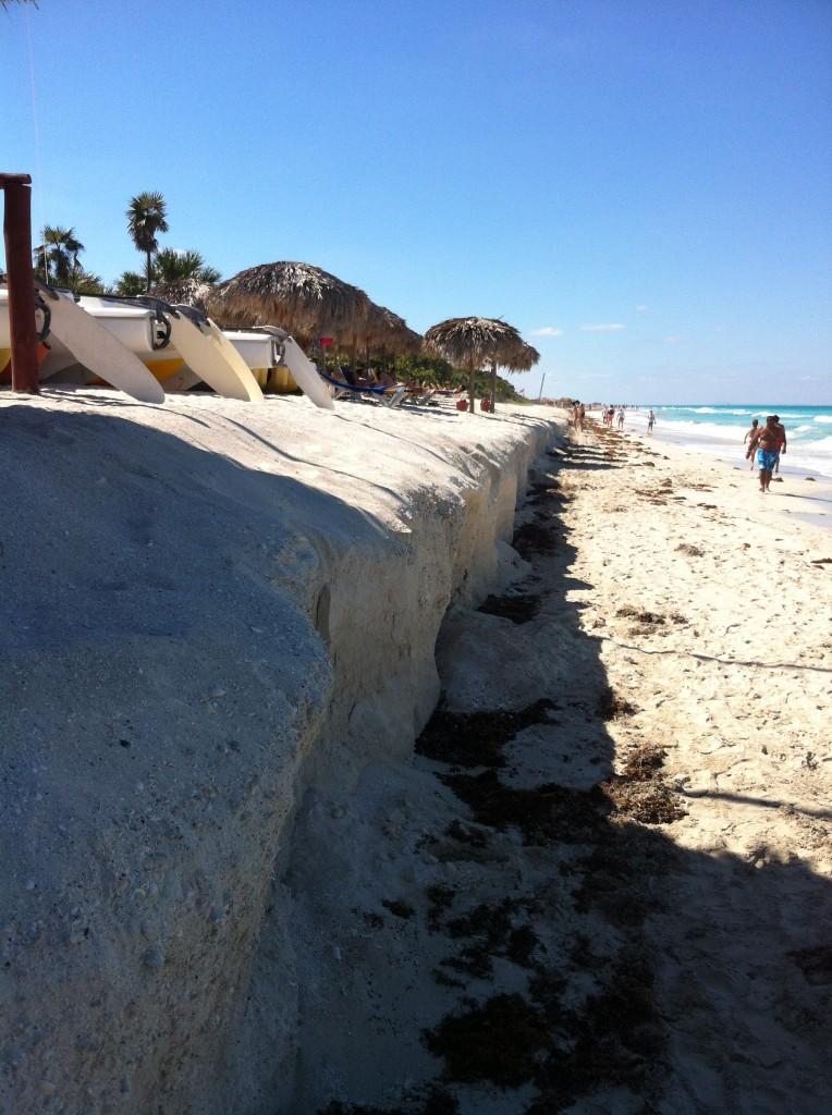 Érosion de la plage à Varadero