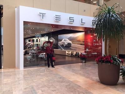 Galerie de Tesla à Scottsdale en Arizona.