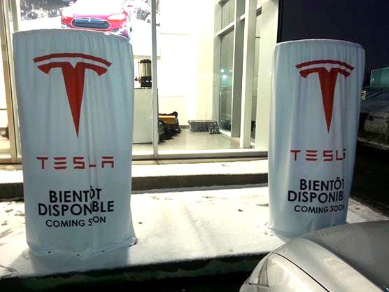 Les 2 Supercharger à Montréal : HYDRO-QUÉBEC raccorde le tout ACTUELLEMENT!