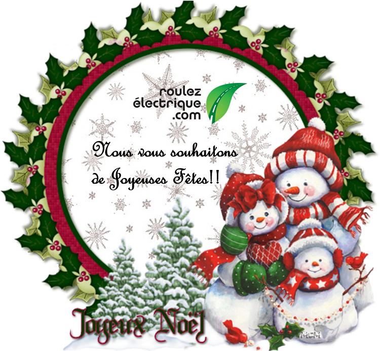 Joyeuses Fêtes de la part de Roulez Électrique!!