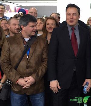 Elon Musk que j'ai eu la chance de rencontrer à Détroit le 13 janvier 2015