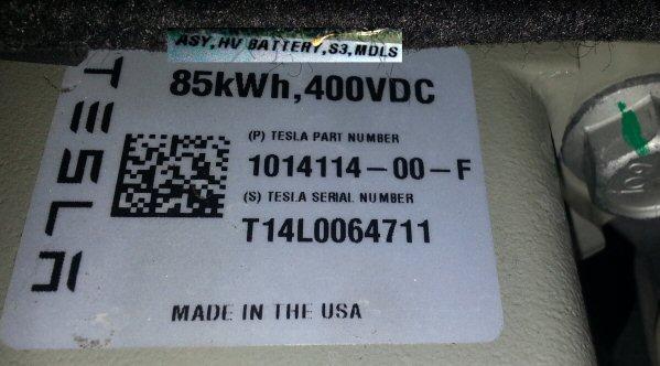 Nouvelle version de batterie pour les Tesla S