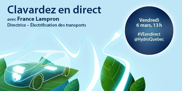 Clavardage en direct sur le sujet de l'électrification des transports