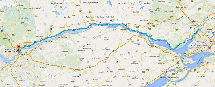 Aller-retour Boisbriand-Gatineau dans la même journée? Oui c'est possible en Leaf!