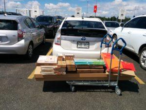 Prius chargement au Ikea