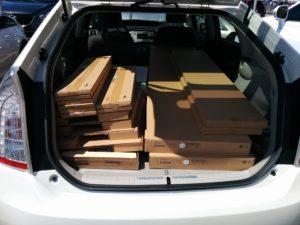 Prius chargée au Ikea