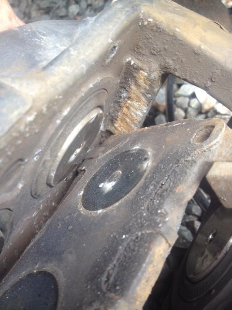 Corrosion qui bloque la plaquette