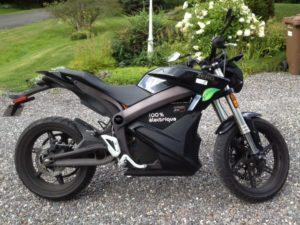 Moto électrique Zero S 2014