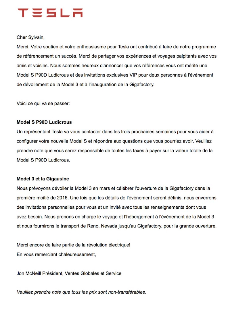 Lettre officielle Francais - JPEG