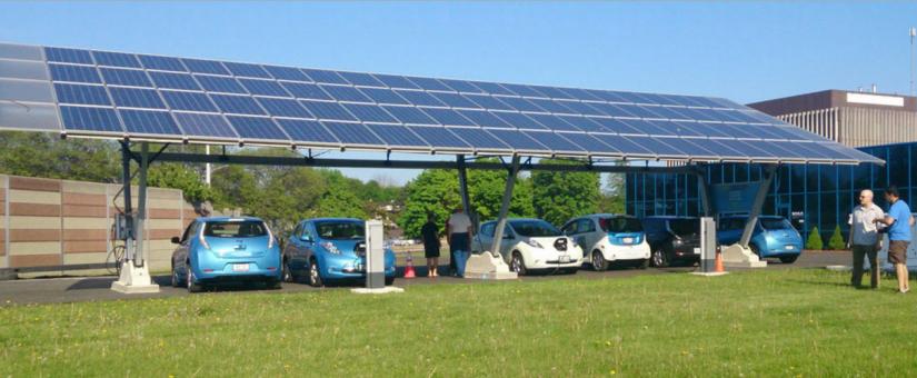 """renewz lance sa nouvelle plateforme d'abris d'autos à l'énergie solaire """"iSun"""""""