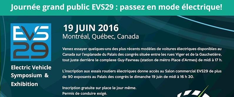 Le 29e Symposium international des véhicules électriques en juin à Montréal
