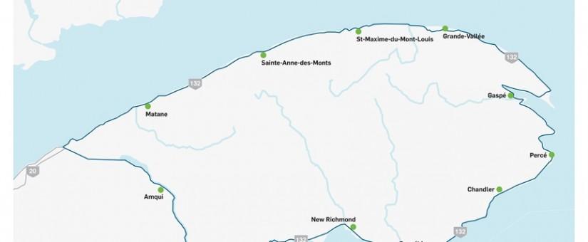 Onze bornes de recharge rapide pour véhicules électriques en Gaspésie et dans le Bas-Saint-Laurent