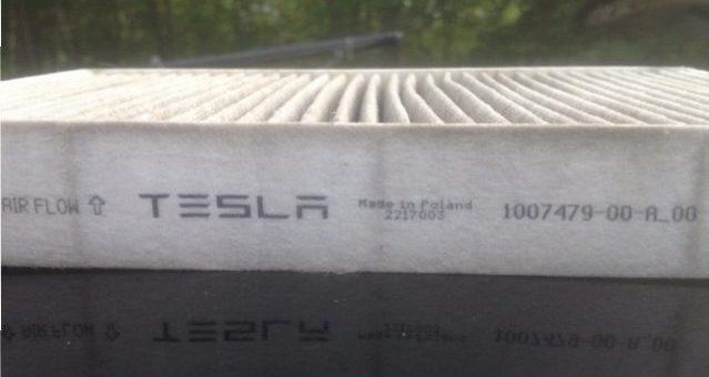 Le remplacement du filtre à air d'habitacle de la Tesla S