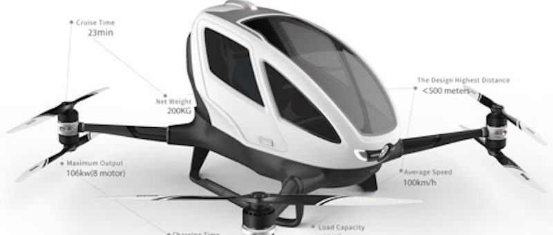 Transport interurbain électrique rapide:  l'intérêt de navettes volantes