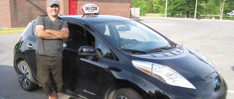 Taxi en Nissan Leaf