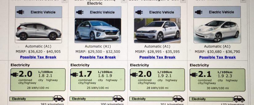 Autonomie officielle des voitures électriques:  Faits VS faussetés