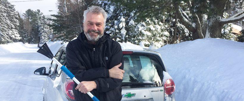 Givre, glace et véhicule électrique