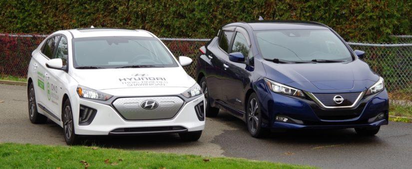 Hyundai Ioniq électrique vs Nissan Leaf